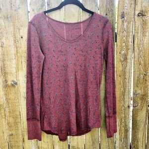 Free People We The Free Floral Thermal Size Small